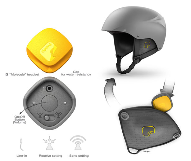 Molecule Helmet and Headset by Stefan Radev