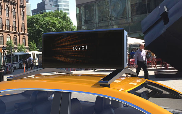 Moment M17 Digital Car Top Advertising Display by Bluemap Design and Moment Solutions