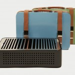 Modern Mon Oncle Briefcase Barbeque with Vintage Touch