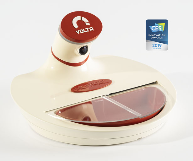 Mookkie Smart Pet Bowl Recognizes Your Pet and Opens to Feed It Exclusively - A.I. Powered Pet Bowl