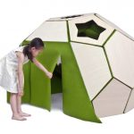 Moon House : Modern Children Tent Features Hexahedron Structure