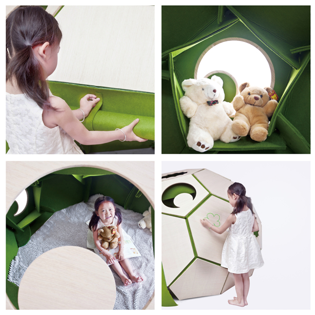 Moon House : Modern Children Tent by Qianqian Hu, Heguang Wang, Yang Zhang, and Yilin Liang