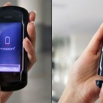 Mooon Concept Phone with Bluetooth Headset Attached