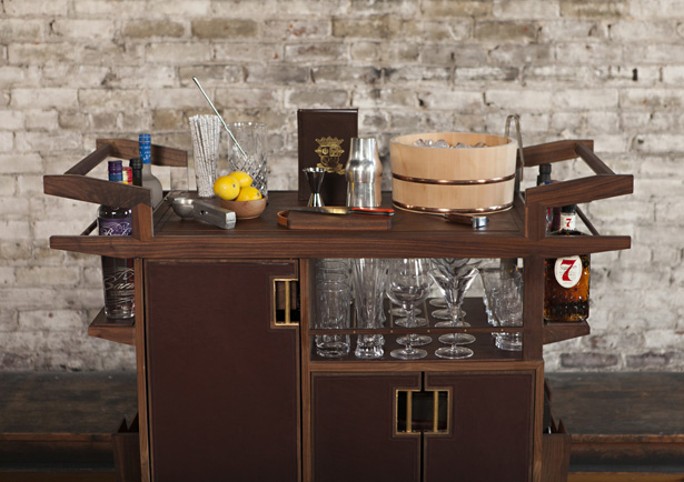 Moore and Giles Sidecar Bar Cart by Jim Meehan