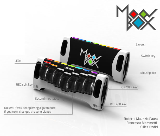 MoovBox Portable Synthesizer by Roberto Maurizio Paura, Francesco Mammetti, and Gilles Traditi