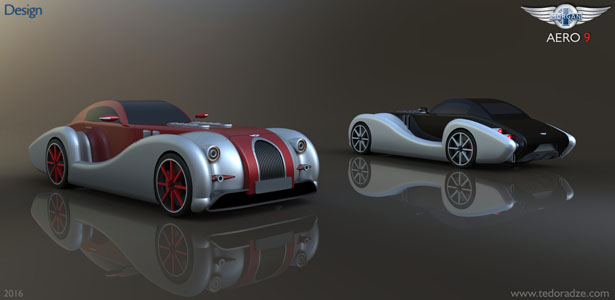 Morgan Aero 9 Concept Car by Giorgi Tedoradze