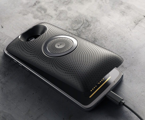 Moto Stereo Speaker Mod for MotoZ Series by Matias Conti