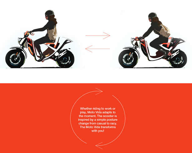 Moto Vida Concept Scooter by Keving Chang