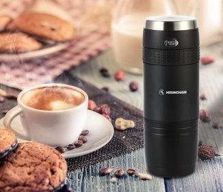 Mounchain Mini Travel Coffee Maker Works with K-Cup Coffee Pod or Ground Coffee