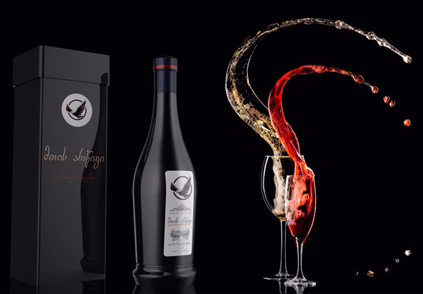 Wine Bottle Packaging Design for Mountain Eagle by Giorgi Tedoradze
