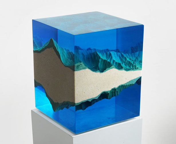 Mountains Mirror Incredible 'Dual Sculptures' Interpreting Nature by Eduard Locota