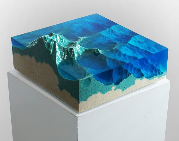 Mountains Slice of Land Incredible 'Dual Sculptures' Interpreting Nature by Eduard Locota