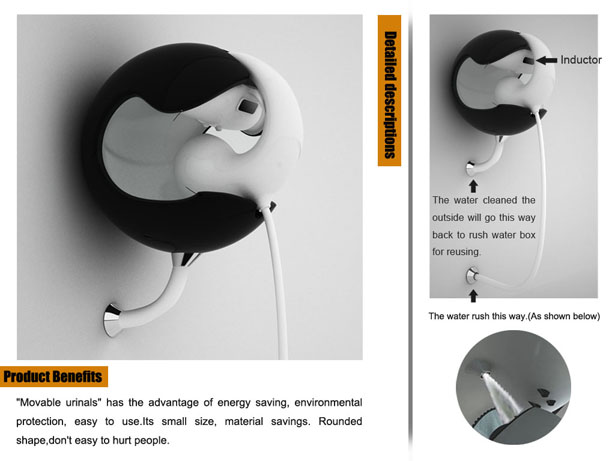 Movable Urinals by Fuming Wu