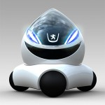 MoVille, Tear Drop Shaped Futuristic Car Concept with Big Grin