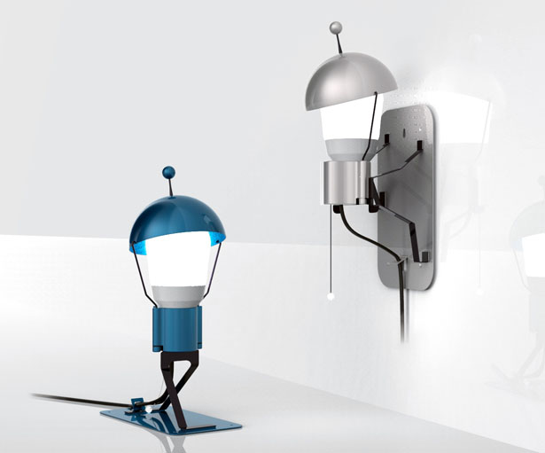 Playful and Cute Mr. StickMan Lamp by DesignNobis Studio
