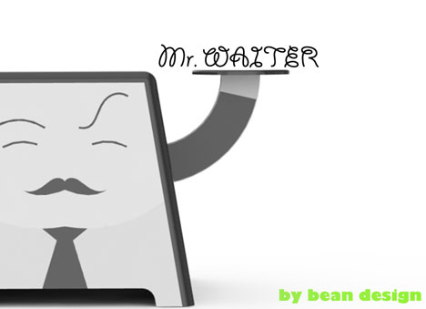 Mr. Waiter With Charming Smile Is Ready To Serve