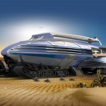 Muadib : Futuristic Desert Transportation Looks Like a Cruise Ship