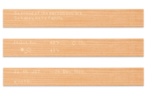 Mui Wooden User Interface Display