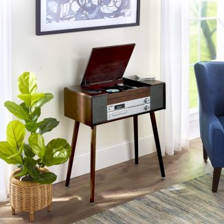 Multi Format Music Console in Mid-Century Modern Furniture Style