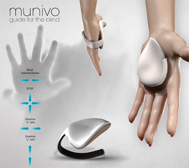 Munivo Gives Walking Direction For Visually Impaired People Through Their Hand