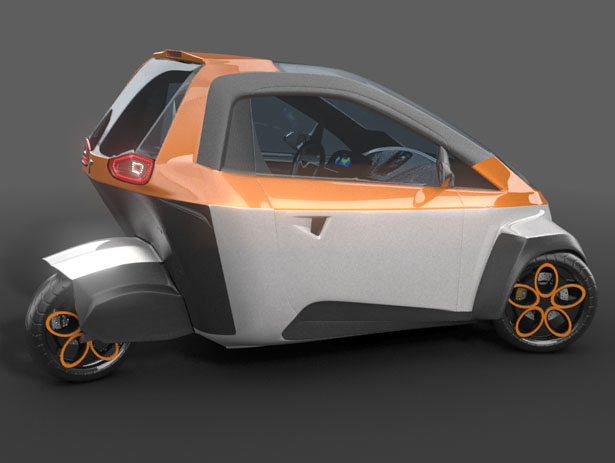 Murban Three-Wheel Concept Car by Ariel Marioni