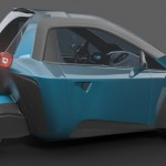 μrban : Micro Urban 3-Wheel Concept Car by Ariel Marioni