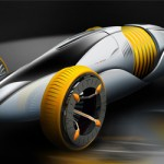 "Mutation Futuristic Car Concept with ""Wrinkle"" Material"