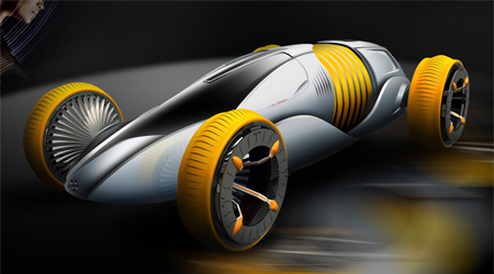 mutation futuristic car concept