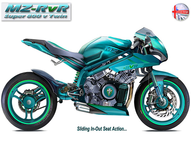 MV 800 RvR Twin Concept Motorcycle by Lee Thompson