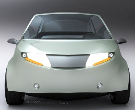 Small Nanus Concept Electric Car for Urban City