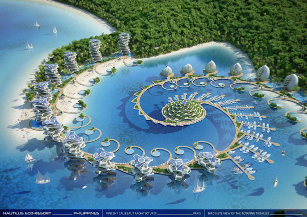 Nautilus Eco-Resort: Biophilic Learning Center in Philippines by Vincent Callebaut