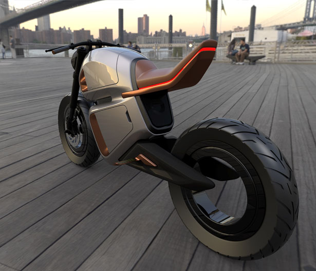Nawa Racer Hybrid Battery-Powered Electric Motorbike Concept