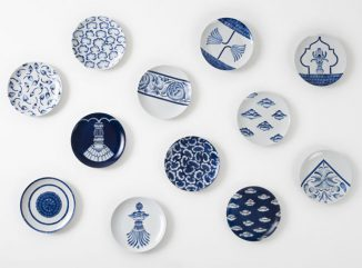 Neel Hand-Painted Porcelain Plate Collection Is Based on Modern Take on Classic Architecture of India