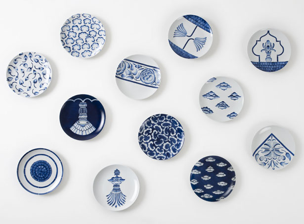 Neel Hand-Painted Porcelain Plate Collection by Andrea Ponti