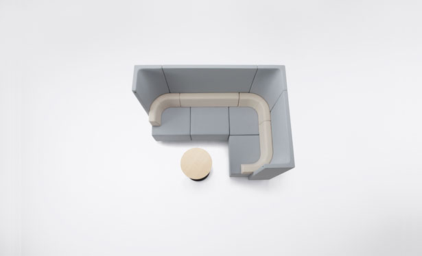 Nendo Brackets Office Use Unit Sofa for Kokuyo