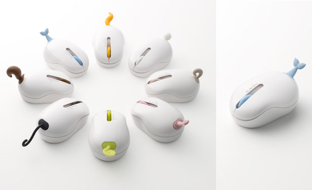 Nendo Oppopet Wireless Optical Mouse Design
