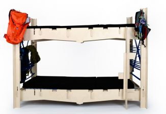 Nest Flat-Packed Bunk Bed to Facilitate and Improve Life in Alpine Huts