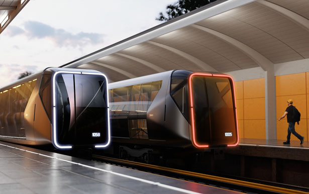 Metro Train of The Future by Art. Lebedev Studio