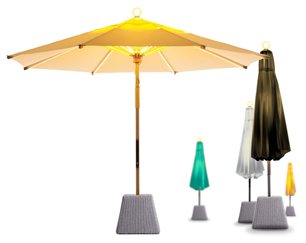 Ni LED Parasol Big Garden Torch by Terry Chow, Chris Chan, Tom Rordinger, Sonia Lo, Joshua Wong and Philip Shiu