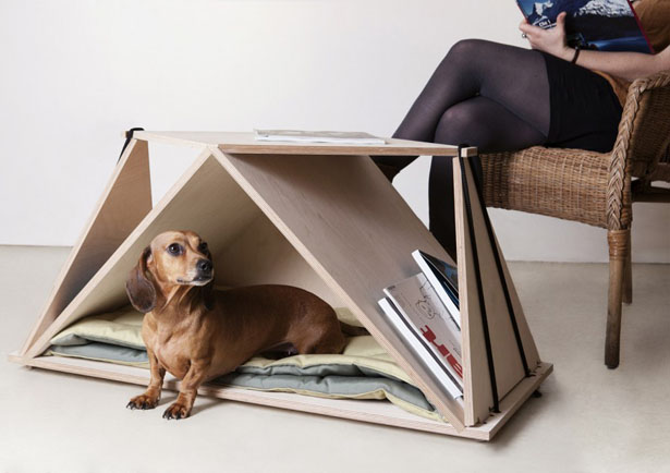 Nidin Coffee Table Doubles As Your Pet Shelter by Fabbricabois