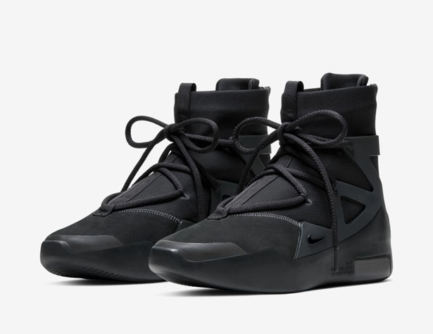 Nike Air Fear of God 1 Triple Black Sneaker Features Solid Black Double-Height Zoom Air Heel Unit