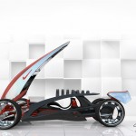 Futuristic Nike One 2022 Racing Car by Phil Frank Design