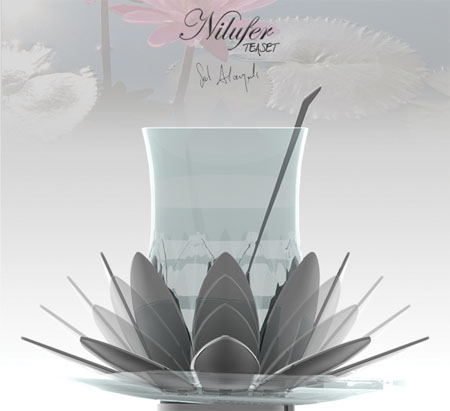 Beautiful Nilufer Tea Set Was Inspired By Water Lily