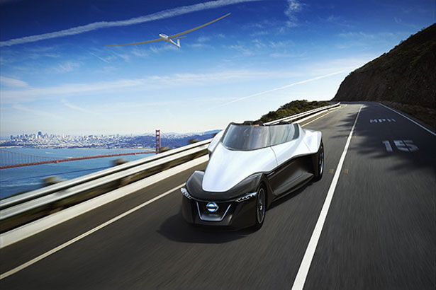 Futuristic Nissan BladeGlider Is A 3-Seater Concept Electric Car