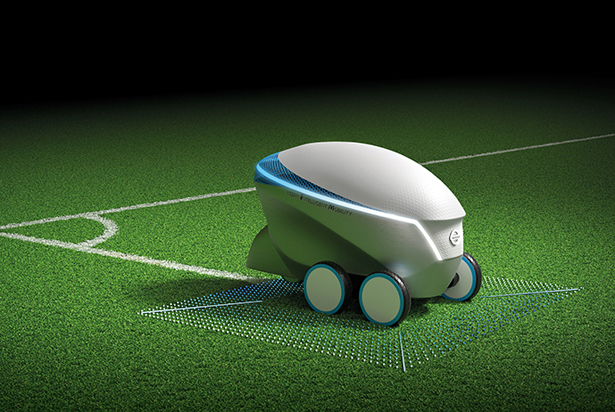 Nissan Pitch-R Robot: An Autonomous Robot to Paint Soccer Field