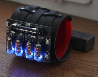 Nixie USSR Tubes IV-16 Steampunk Style Watch is A Fantastic Nixie Watch with Leather Strap