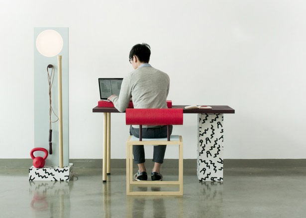 No Sweat 3 Piece Workspace Furniture Set by Darryl Agawin