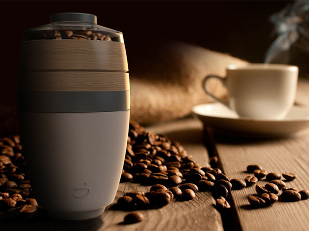 Nomad Barista Portable Coffee Maker with Built-In Grinder
