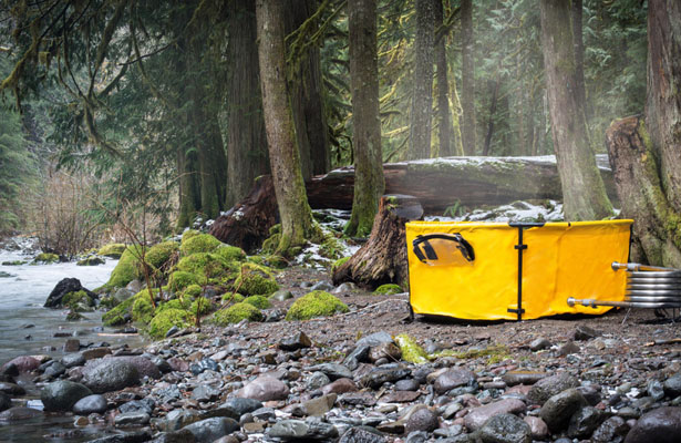 Nomad Collapsible Tub and Frame : Enjoy A Hot Tub with Friends, Anywhere!