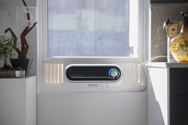 Noria : Modern Window Air Conditioner Features Slim and Compact Design